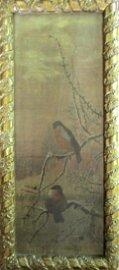 Birds in Snow Covered Tree - 19th Century