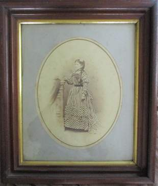 Portrait of a Lady with Striped Gown