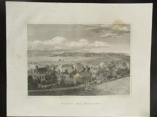 Early Panoramic View of Boston from Roxbury