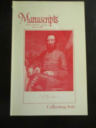 Manuscripts Collecting Sets Fur Trappers Etc