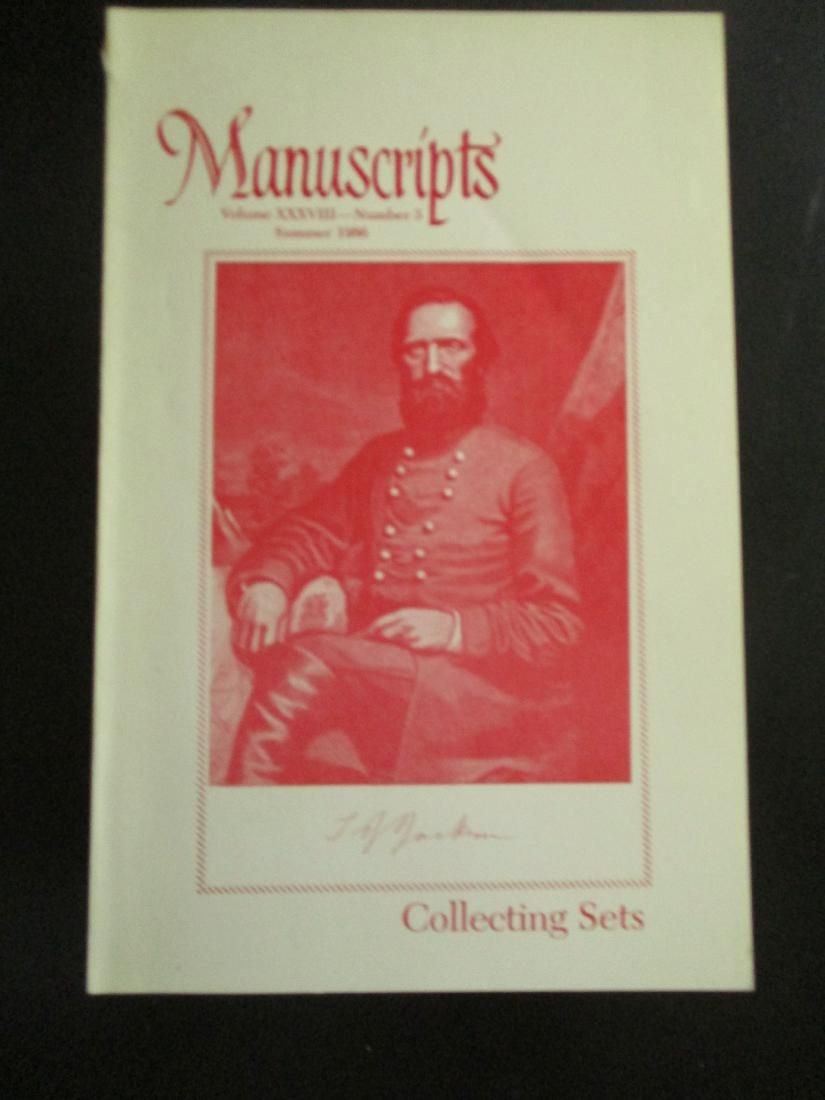 Manuscripts - Collecting Sets Fur Trappers Etc