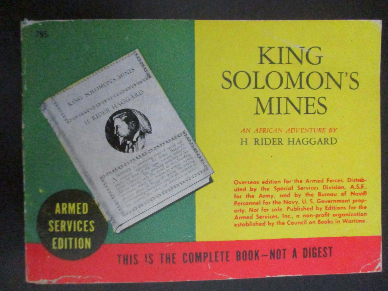 King Solomon's Mines - Armed Service Edition