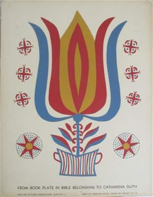 WPA Pennsylvania Folk Art Serigraph
