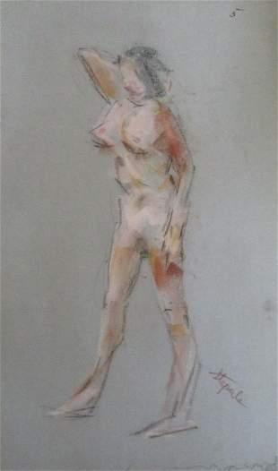 Nude 5 Standing Sideway  Charles Stepule