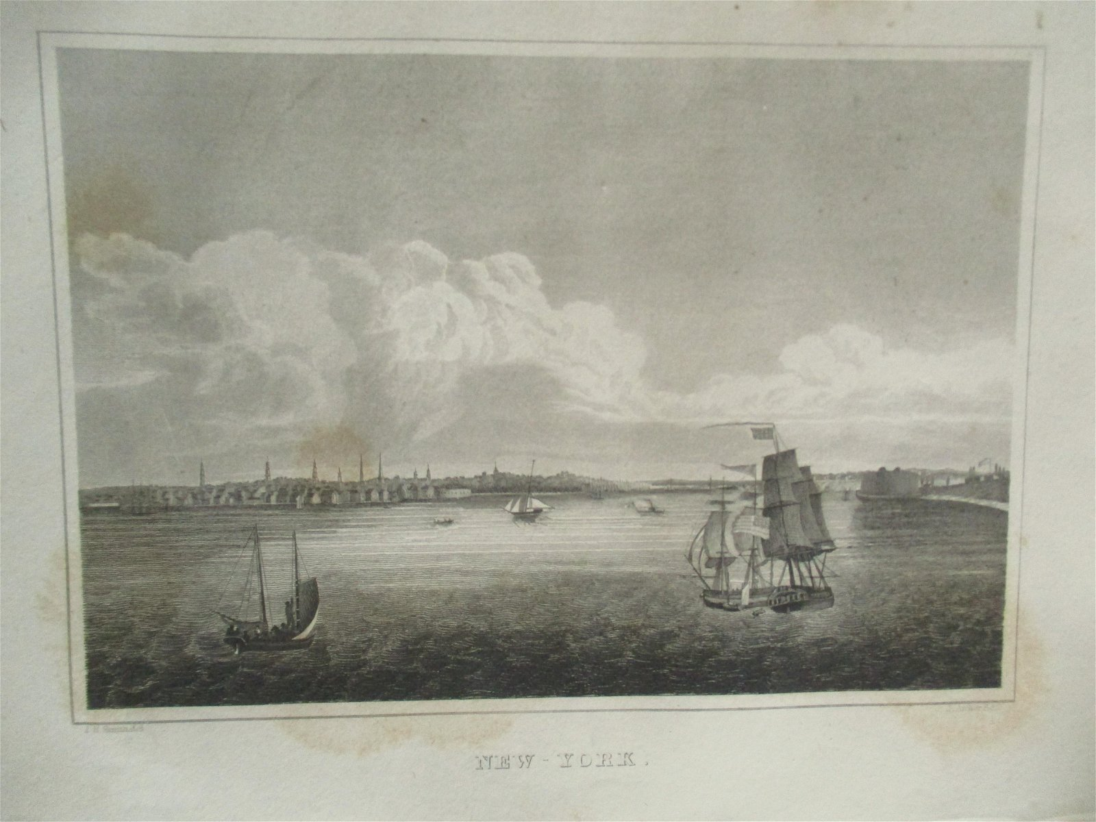 Early Panoramic View of  New York Harbour