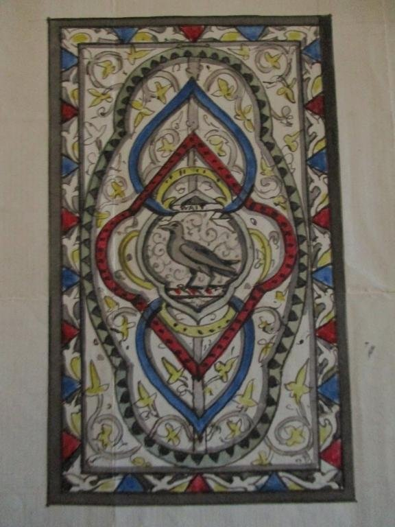 Original Watercolor Design Stained Glass Window