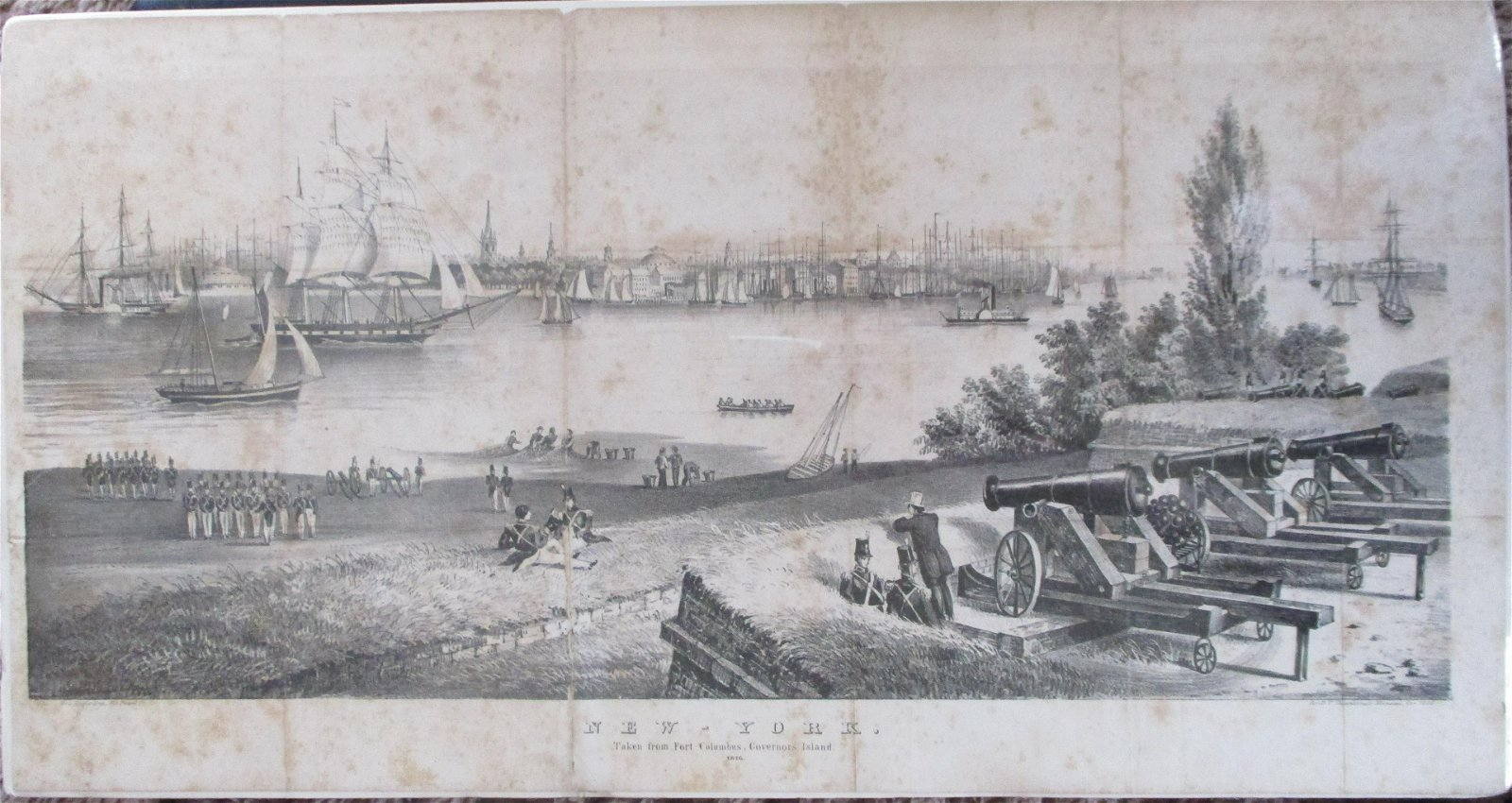New York From Fort Columbus 1816