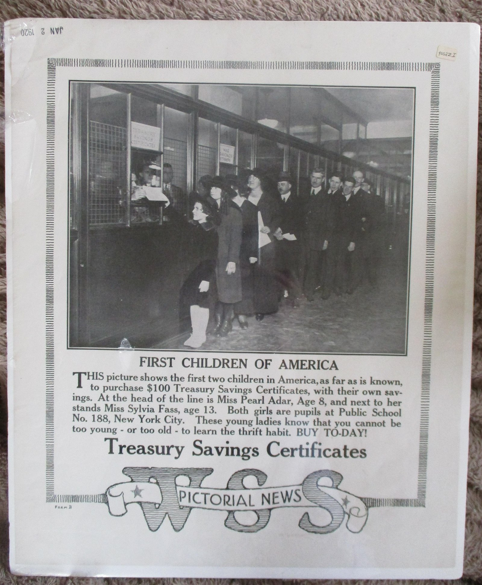 First Children of America  - Poster 1920