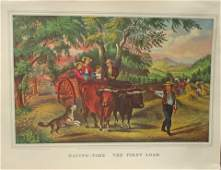 Haying Time - The First Load Currier Ives