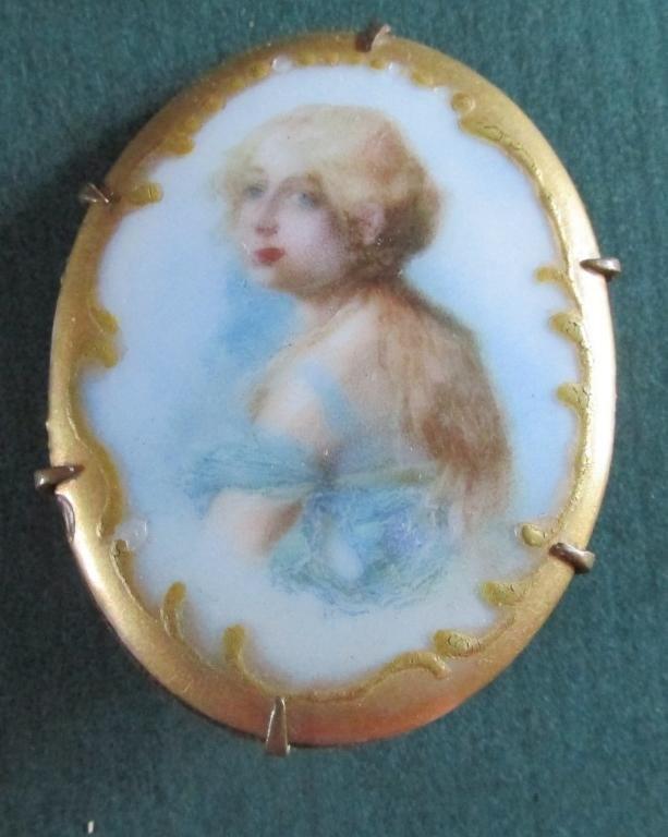 Lady In Blue Brooch
