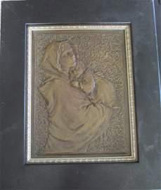 Austrian/German Secessionist Bronze Mother & Child