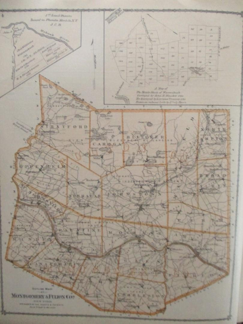 Map of Montgomery & Fulton Counties New York