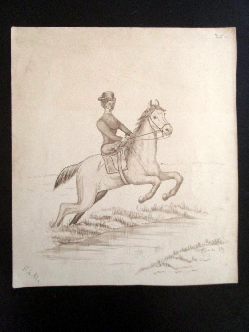 English Lady Riding Horse