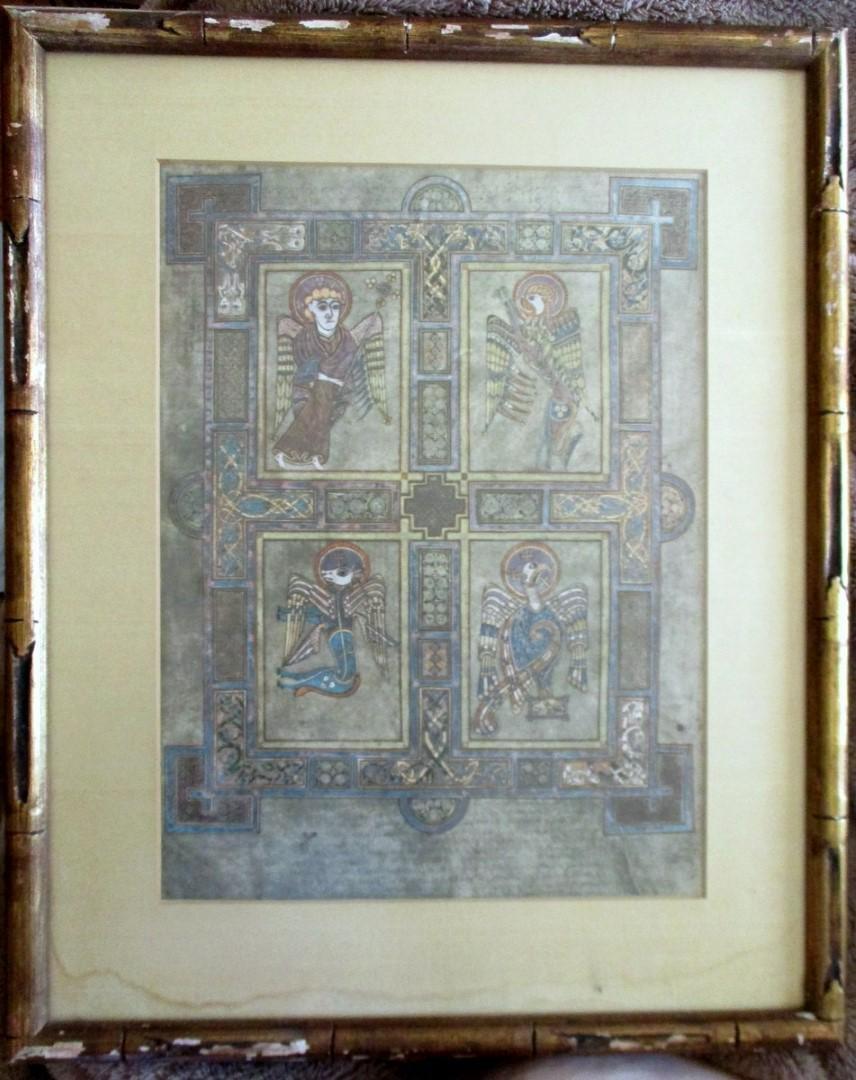 The Evangelical Symbols - Book of Kells