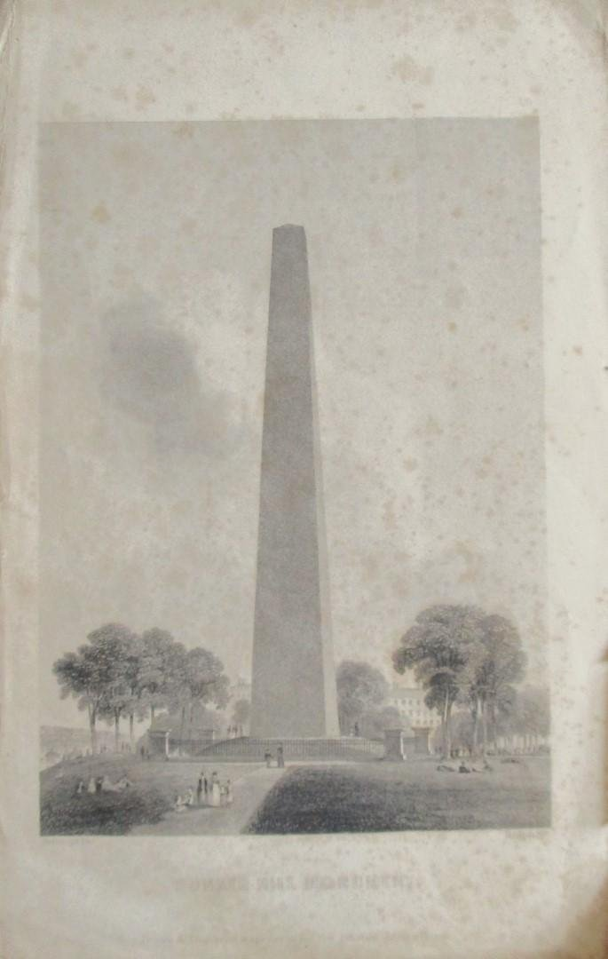 Bunker Hill Monument - First Engraving