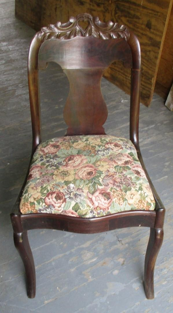 Victorian Flame Mahogany Side Chair