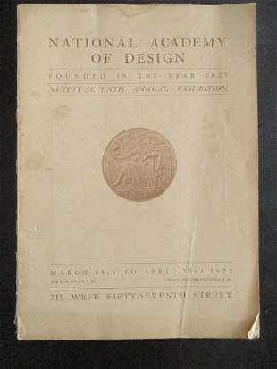National Academy Of Design Exhibition 1922