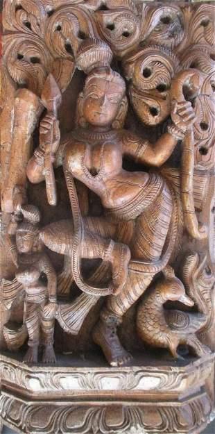 Carving of Hindu Goddess