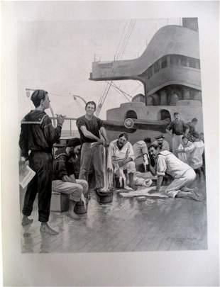 Rufus Fairchild Zogbaum - US Navy Jacks Wash Day