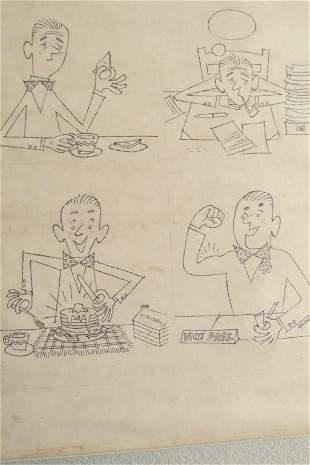 Albert Aquino (American Illustrator) Log Cabin Ad