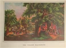 The Village Blacksmith  Currier Ives