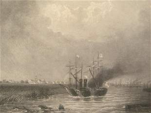 Southwest Mouth of the Mississippi Circa 1852