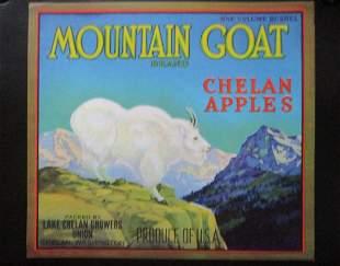 Mountain Goat  Apples  - Washington State  Ad