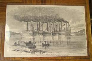 Negley's Flotilla Down The Ohio River - Civil War