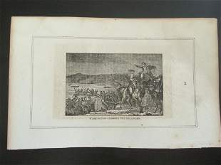 Early Engraving of Washington Crossing Delaware