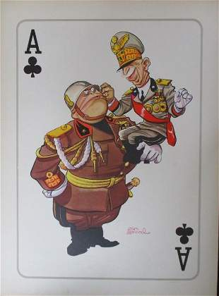 Arias Bernal - Hitler & Mussolini Poster