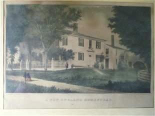 A New England Homestead - Nathaniel Currier
