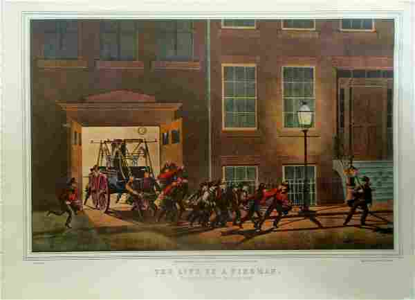 The Life of A Fireaman Currier Ives