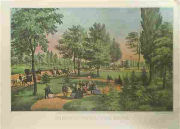 Central Park - The Drive Currier Ives