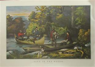 Life In The Woods -  Currier Ives