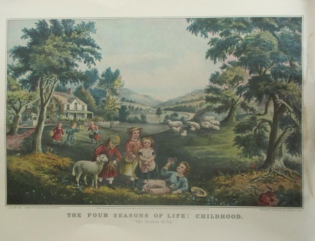 Four Seasons of Life - Childhood - Currier Ives