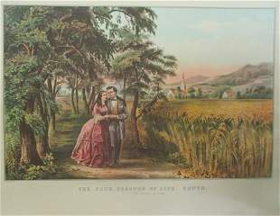 Four Seasons of Life - Youth -  Currier Ives