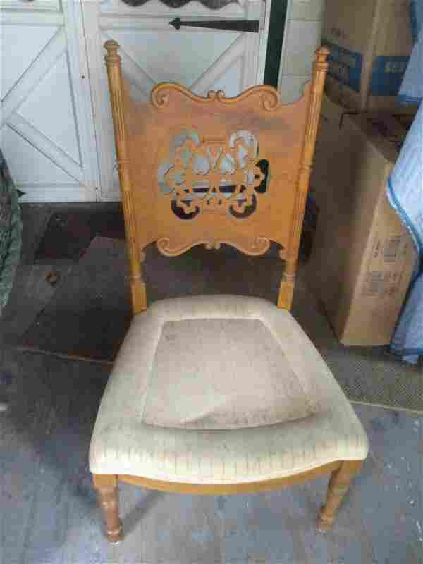 Pierced Back Victorian Side Chair
