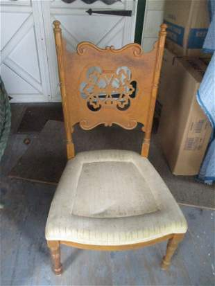 Pierced Back Victorian Side Chair