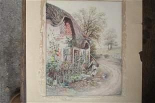 Flower Cottage (English School)