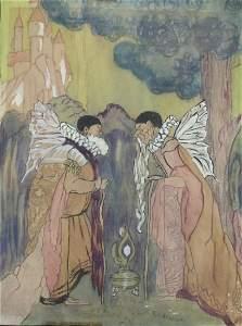 Angels - Ruth Newman - Manner of Arthur Rackham