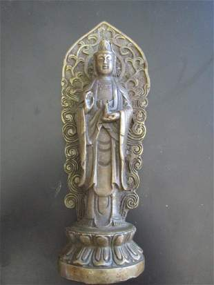 Bronze Buddha with Aureola