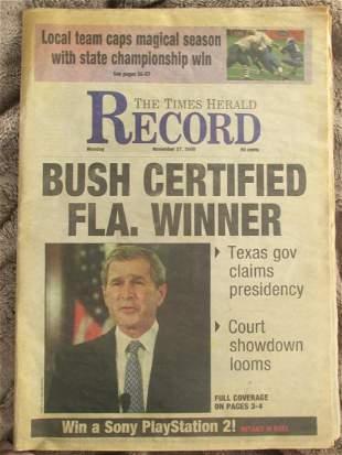 George Bush Certified Florida Winner  11/27/2000