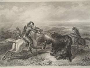 Hunting Buffalo's - F. O. C. Darley