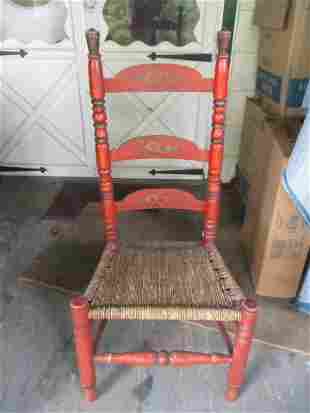 Early Pennsylvania German Painted Side Chair