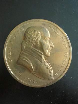 John Adams Indian Peace Medal 1797
