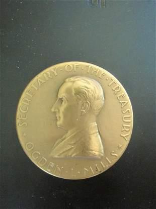Ogden L. Mills Medal Bronze Medallion