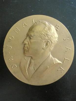 Dr. Jonas E Salk Medal Bronze Medallion