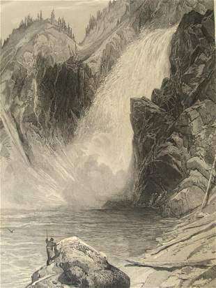 The Upper Yellowstone Falls 1873