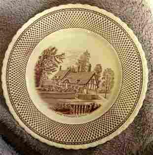 Anne Hathaway's Cottage Creamware Plate