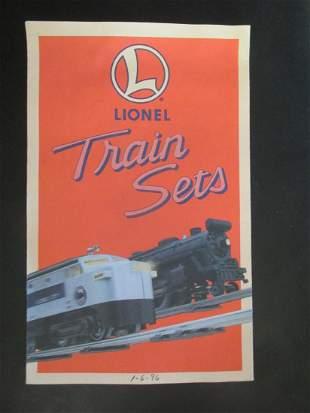 Lot of Lionel Trains Catalogs & Literature